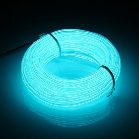 10M Led Strip Light Flexible Soft Tube Wire Neon Glow 12V Light Blue