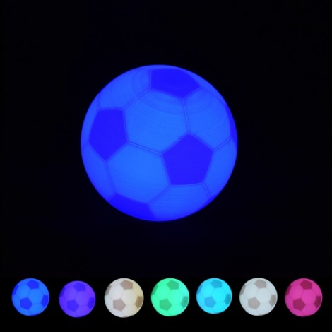 10cm Creative 3D Print Football LED Light 7 Colors Change Pat Switch World Cup Soccer USB Rechargeable Desk Lamp