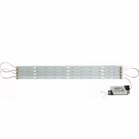 40cm 24W 5730 LED Bar Strip Light w/ Power Driver Warm White Light