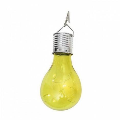Solar Power 5 LED Ball Light Camping Garden Lamp Warm White Yellow