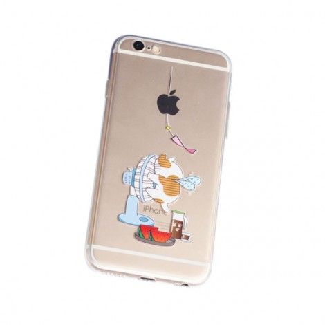 Frosted TPU Embossment Protective Back Case for iPhone6/6S