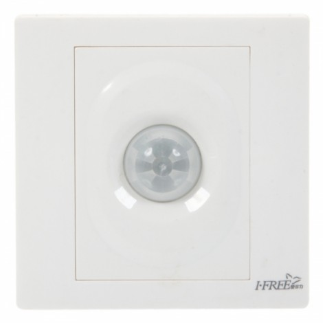 F-2SH 2-in-1 Wall Mounted Sound Activated Time Delay Light Switch White