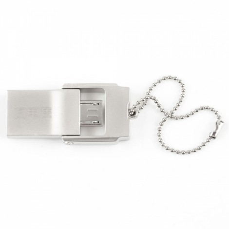 L.Data LD SPD08 16GB USB 3.0 Flash Drive with Micro USB for OTG Android Cellphones / Windows / Linux Silver