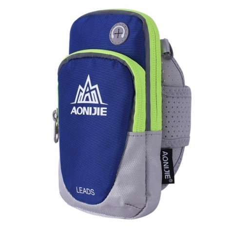 """AONIJIE Outdoor Waterproof Sports Gym Running Armband Bag Phone Case for Cellphone Under 5.5"""" Dark Blue"""