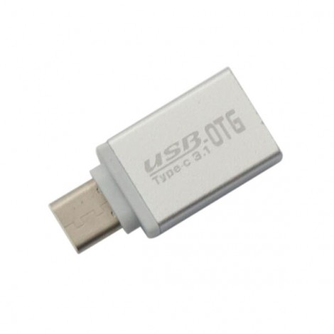 USB 3.0 to USB 3.1 Type-C OTG Adapter Silver