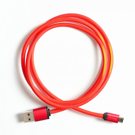 POFAN Android USB Cable Discoloration Cable Red & Yellow