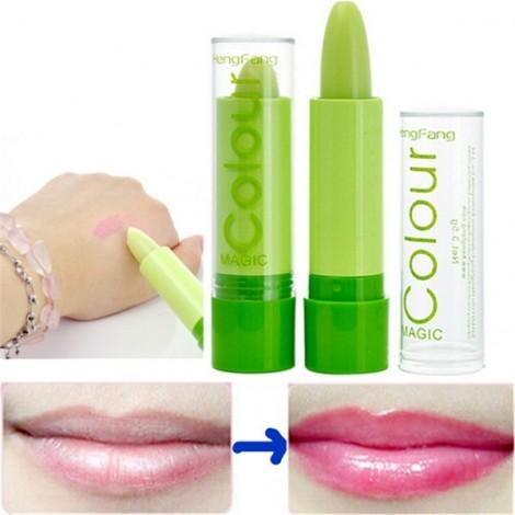 Magic Color Changing Moisturizing Long Lasting Lipstick Lip Color Green