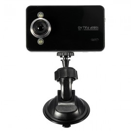 "K6000 2.4"" LCD 720P Mini Car DVR Video Camera Recorder with G-Sensor Black"