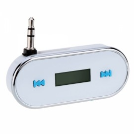 3.5mm Audio Car FM Transmitter for iPhone/iPad/iPod/Smartphone/MP3 White