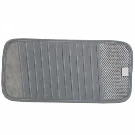 Car Visor CD Organizer Bag Holder for 12 Pieces CD Gray