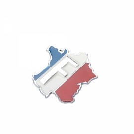 Creative French Flag Pattern Metal Car Decorative Sticker