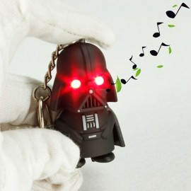 Movie Character Black Knight Key Chain with Red LED Light and Sound Black