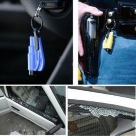 Mini Safety Hammer Car Life-saving Escape Hammer Window Keychain Car Window Broken Emergency Glass Breaker Random Color
