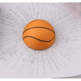 Car Styling 3D Basketball Hits Funny Car Sticker Decal Orange