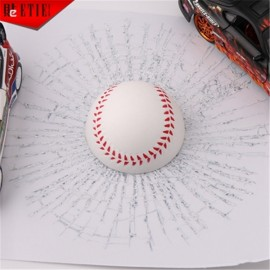 Car Styling 3D Baseball Hits Funny Car Sticker Decal White