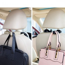 1 Pair Car Seat Mounted Clip Hanger Auto Bag Organizer Coat Hook Random Delivery