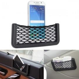Car Auto Mesh Storage Bag Resilient String Phone Bag Holder Organizer Large Size 20*8.5cm