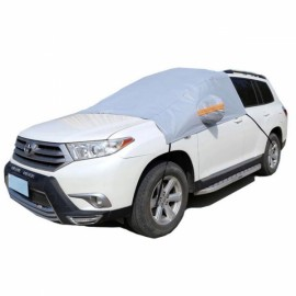 Thicken Sunshade Waterproof Anti-UV Snow Protection Cover Car Windscreen Cover for SUV Gray