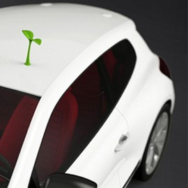 Creative 3D Sapling Anti-collision Car Styling Roof Body Cool Decoration Badge Green
