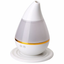 200ml 2W Ultrasonic Aroma Humidifier Air Essential Oil Diffuser Smart Home with LED Light Purifier Atomizer Refresher for Home White