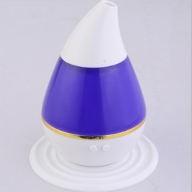 200ml 2W Ultrasonic Aroma Humidifier Air Essential Oil Diffuser Smart Home with LED Light Purifier Atomizer Refresher for Home Purple