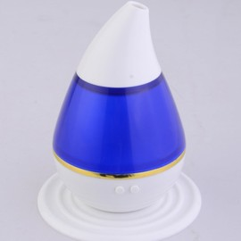 200ml 2W Ultrasonic Aroma Humidifier Air Essential Oil Diffuser Smart Home with LED Light Purifier Atomizer Refresher for Home Blue