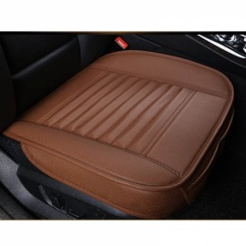 PU Leather Cushion Car Seat Cover Side Full Cover Seats Protect Mat Coffee