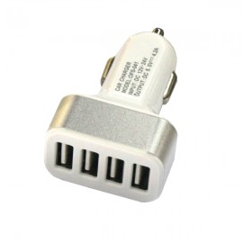 4USB 12-24V 4.2A Car Charger / Mobile Phone Charger Silver