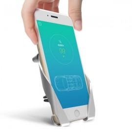 "AutoBot Car Holder Bracket for 3.5-7.0"" Smartphones GPS Devices Silver"
