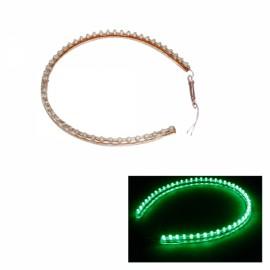 48cm 48 LED Flexible Car Strip Lights Bulb Line Green