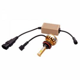 H8/H9/H11 40W 3000-6000K Waterproof Dual LED Headlamps + Ballasts Golden