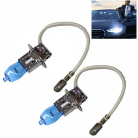 2pc HOD H3 100W 1800LM 6000K White Light LED Car Halogen Headlights (12V)