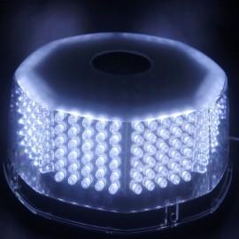 30W 240 LED Car Emergency Strobe Light Beacon Flashing Warning Lamp White