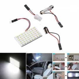2pcs White 48 SMD COB LED 12V Car Interior Panel Light Dome Lamp Bulbs