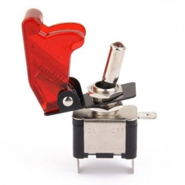 12V 20A LED Light Rocker Toggle Switch SPST ON/OFF for Car Truck Red LED & Cover