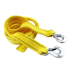 4M 5t Dual-layer Thickened Superior Car Tow Rope Yellow