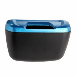 Flip Opening Type Mini Car Garbage Can Auto Rubbish Trash Can Dust Scraps Paper Case Holder Bin Vehicle Organizer Blue