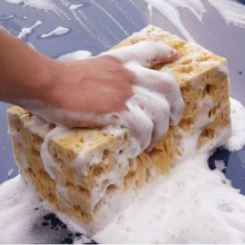 Universal Strong Absorbent Coral Car Washing Cleaning Sponge Yellow