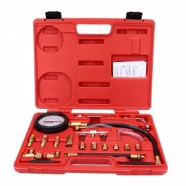 140PSI Fuel Injection Pump Pressure Tester Injector Pressure Gauge Gasoline Test Set Red