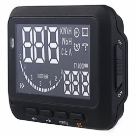 """F02 2.5"""" LCD HUD Head-up Display System with Speedometer / OBD II Cable for Car Black"""