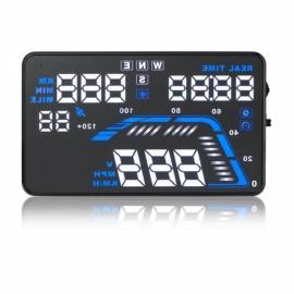 "Q7 5.5"" Car HUD Head Up Display GPS OBD2 Speed Warning System Fuel Consumption"