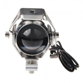 U5 Motorcycle LED Headlight Waterproof High Power Spot Light Silver