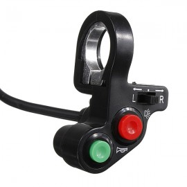 Multifunctional 3-in-1 Switch Horn Lamp Turn Signal Lamp for Motorcycle Black