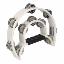 Two-ring Hand Rattles Drum White