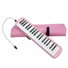 IRIN 37-Key Melodica with Mouthpiece & Hose & Bag Pink