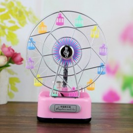 Creative Romantic Ferris Wheel Happiness Music Box Birthday Gifts Home Decoration with Light Colorful