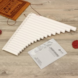 18 Tube Alto C Eco Friendly Resin Pan Flute for Beginner White