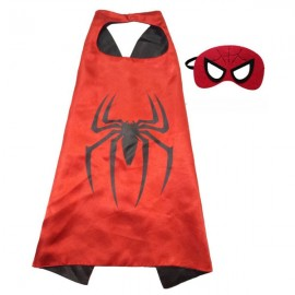 Kids Costume Super Hero Cape & Mask Spider Children Boy Girl Cosplay Suit Red & Black