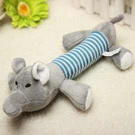 Funny Dog Puppy Sound Chew Toys Plush Pet Squeaky Cat Dog Play Toys Elephant