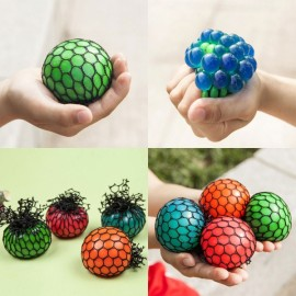 Stress Relief Mesh Grape Squeeze Ball Toy Random Delivery